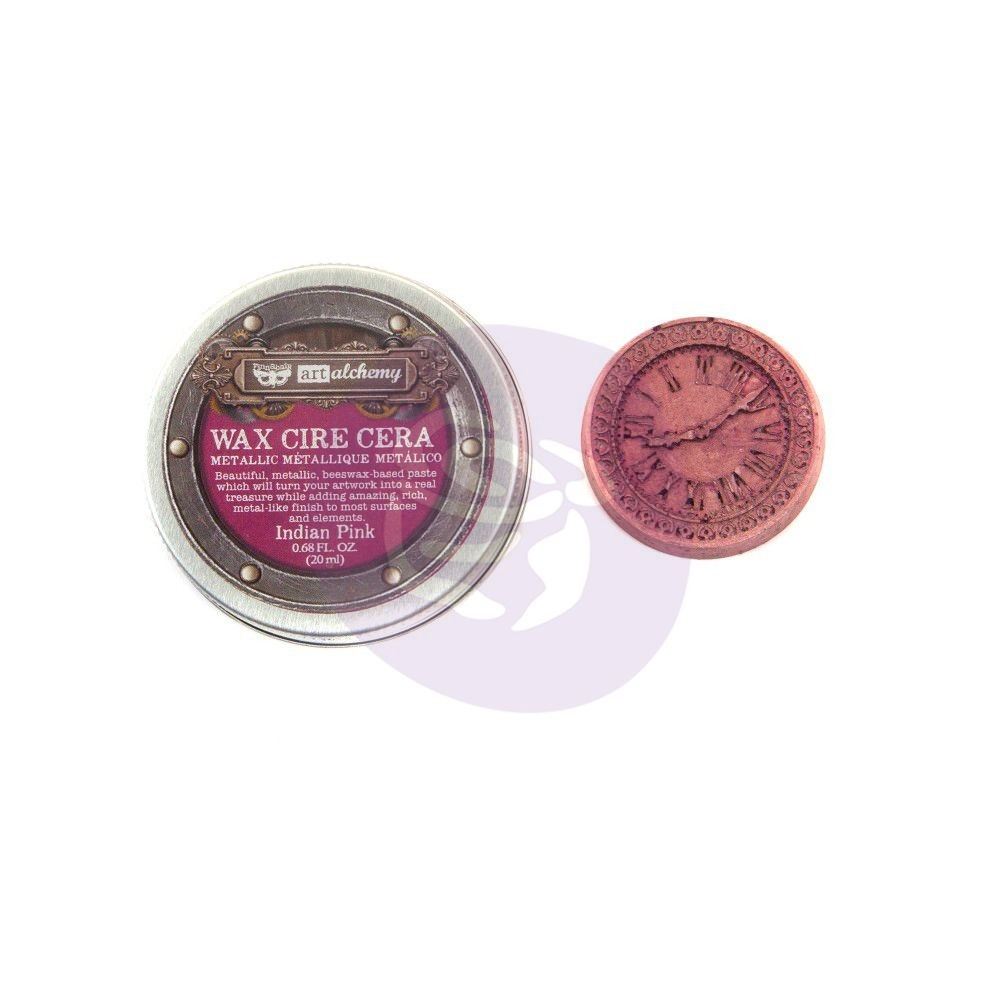 Prima Marketing Finnabair Art Alchemy-Metallique Wax - Indian Pink