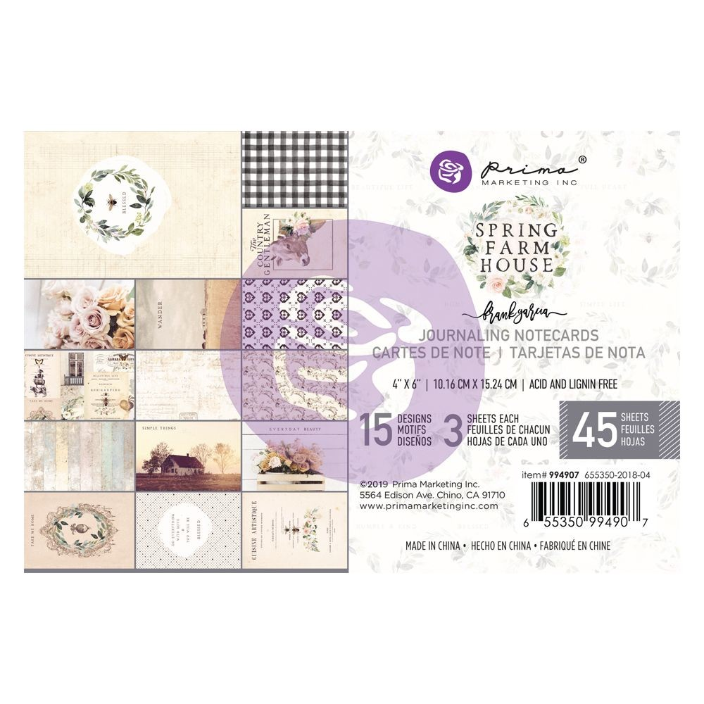 Prima Marketing Spring Farmhouse 4x6 Paper Pad
