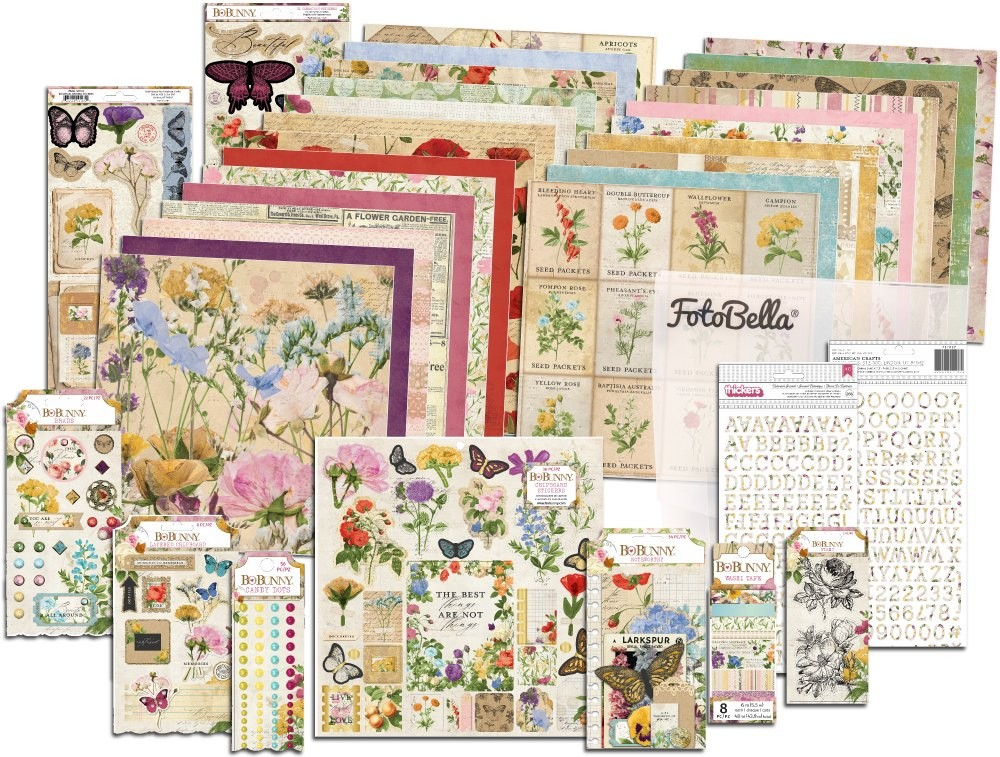 Bo Bunny Botanical Journal I Want It All! 12x12 Collection Bundle