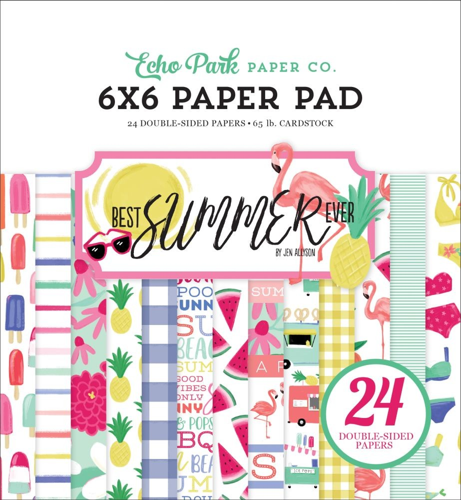 Echo Park Best Summer Ever 6x6 Paper Pad