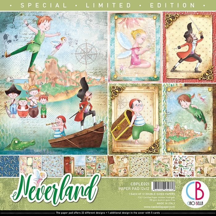 "Ciao Bella Neverland Limited Edition Paper Pad 12""x12"" 12/Pkg"