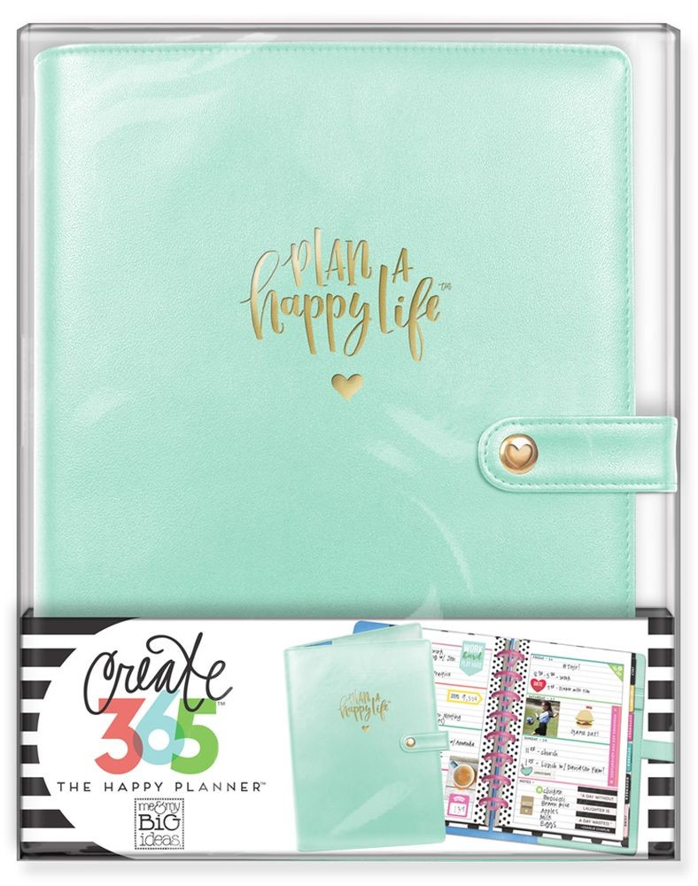Me & My Big Ideas Create 365 The Happy Planner Deluxe Cover - Mint (Mini)