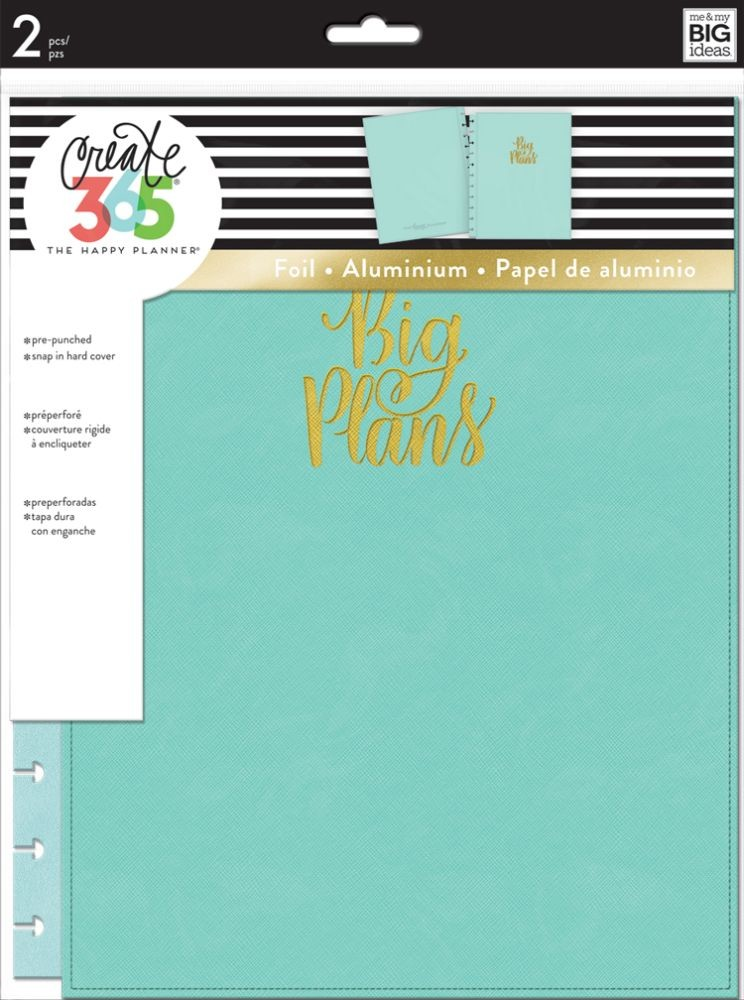 Me & My Big Ideas Create 365 The Happy Planner Snap in Hard Cover Turquoise (Big)
