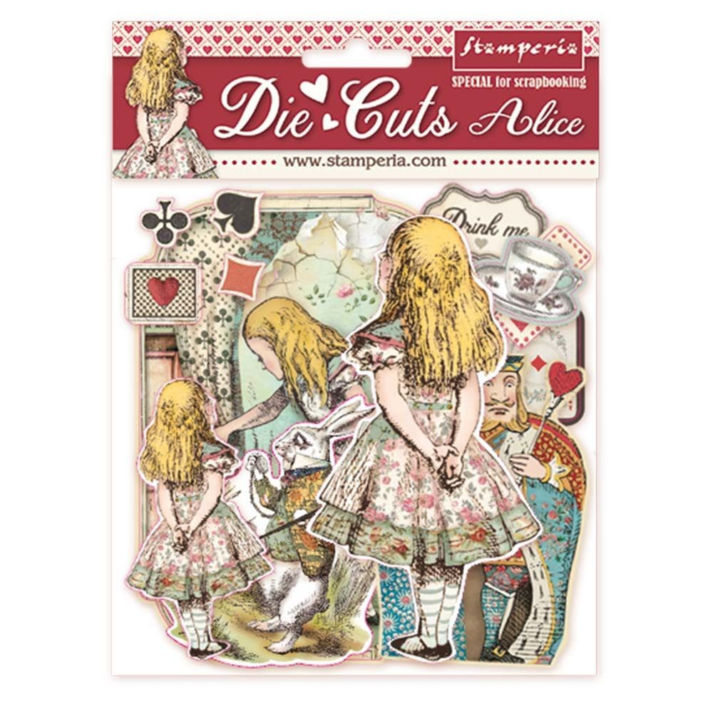 Stamperia Die cuts assorted - Alice