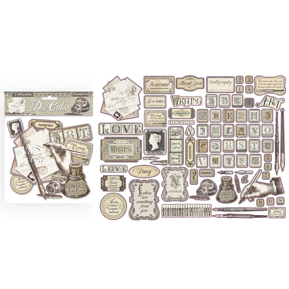 Stamperia Die cuts assorted - Calligraphy