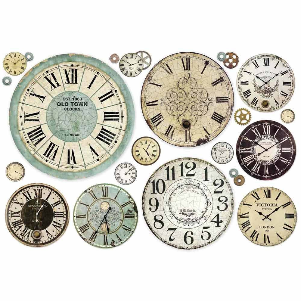 Stamperia Decoupage Rice Paper 48X33 Clock