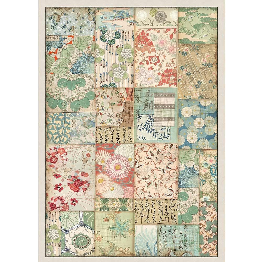 Stamperia A4 Rice paper packed Patchwork