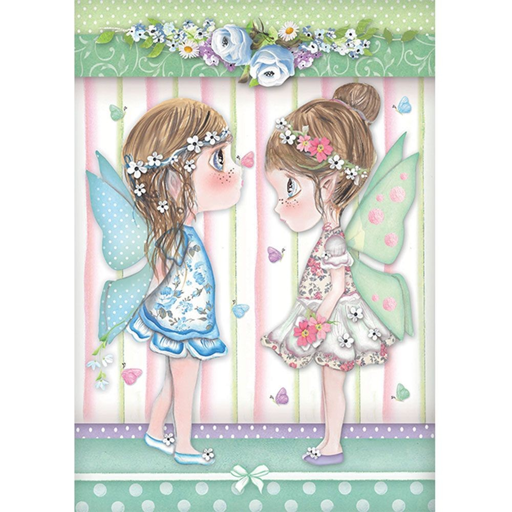 Stamperia A4 Rice paper packed Fairies with butterflies