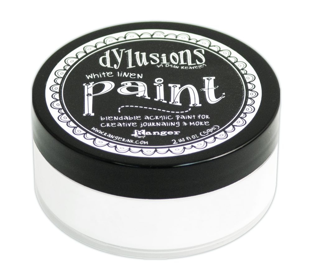 Ranger Dyan Reaveley''s Dylusions Paint 2oz - White Linen