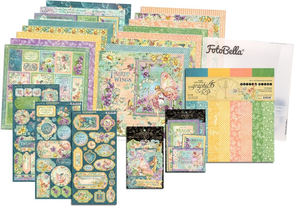 Graphic 45 Fairie Wings 12x12 I Want It All Bundle (does not include 8x8)