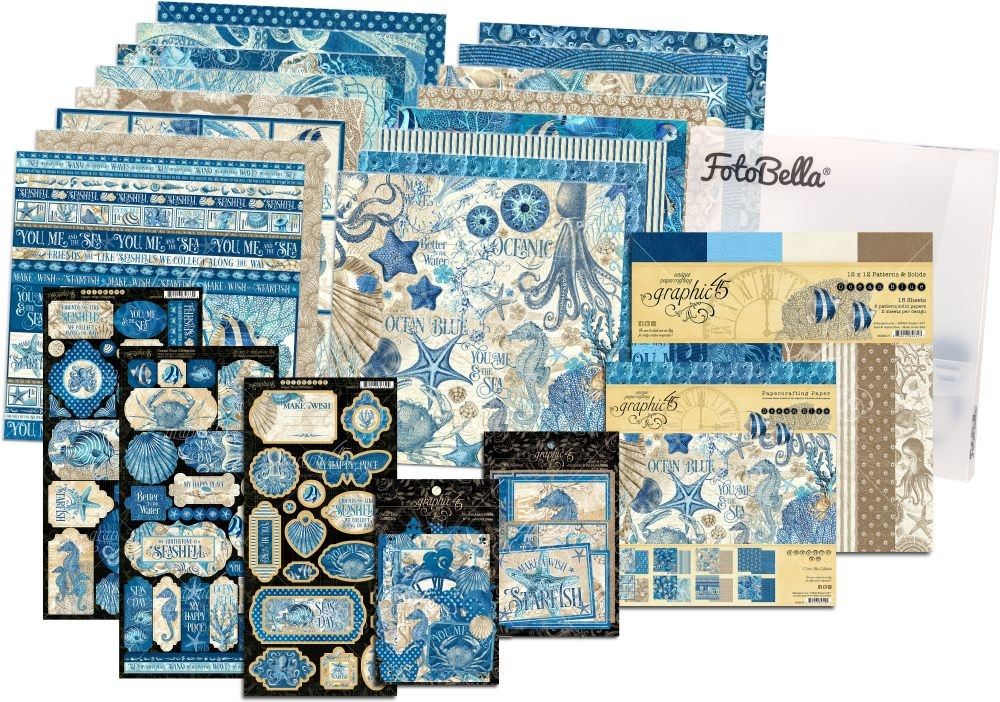 Graphic 45 Ocean Blue 12x12 & 8x8 I REALLY Want It All Bundle