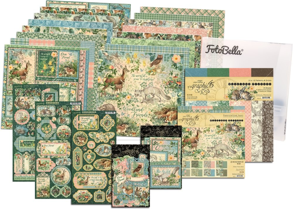 Graphic 45 Woodland Friends Collection 12x12 & 8x8 I REALLY Want It All Bundle