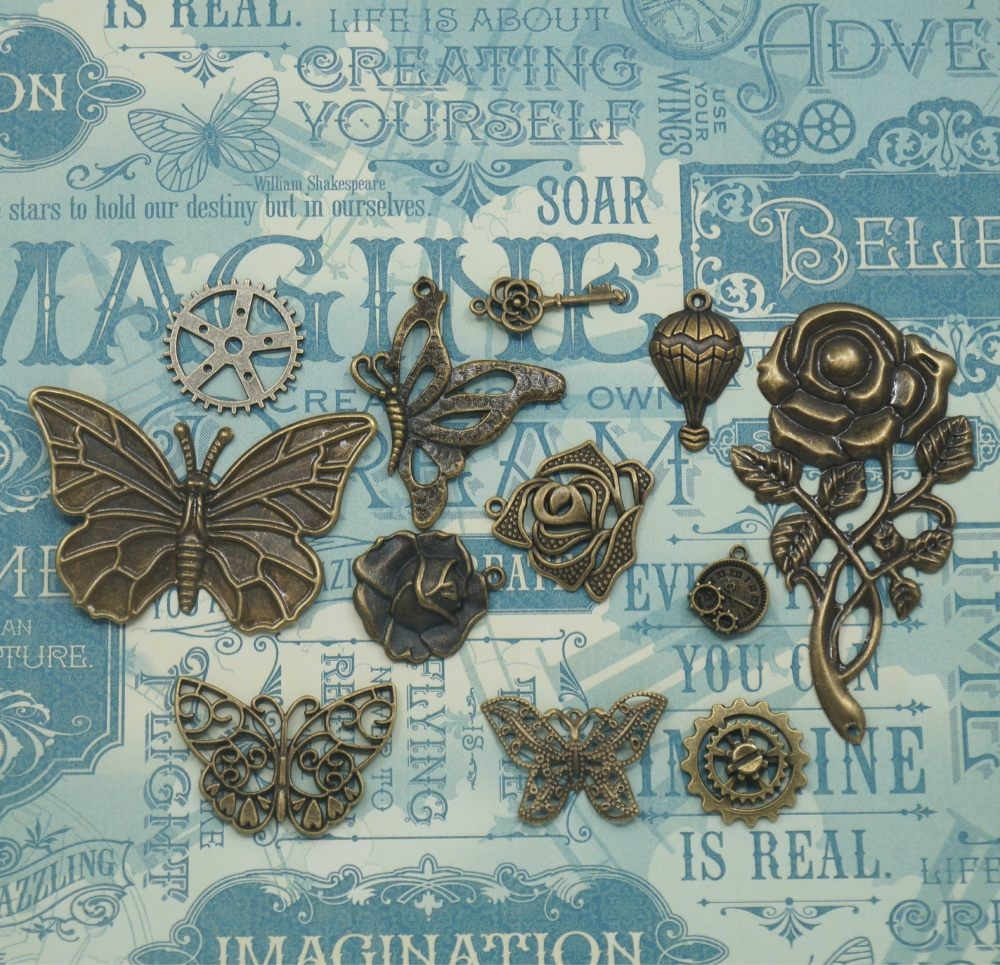 Vintage Charms hand selected by FotoBella for Graphic 45 Imagine