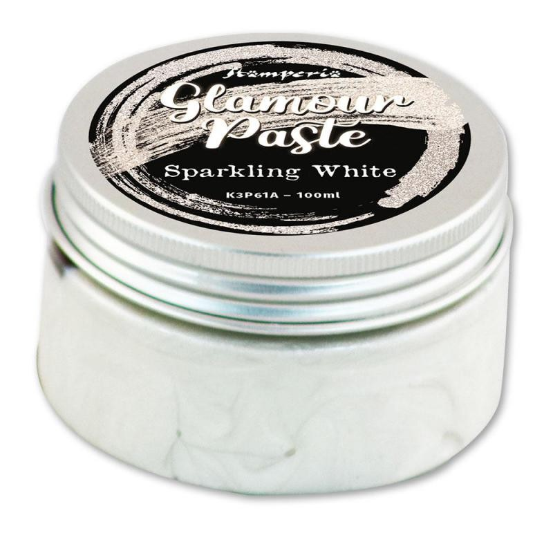 Stamperia Glamour Paste 100 ml. - Sparkling white
