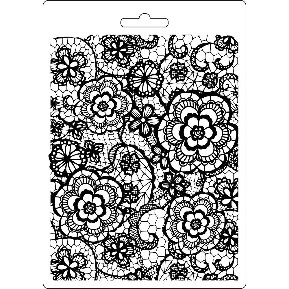 Stamperia Soft Mould A5 size Flowered texture