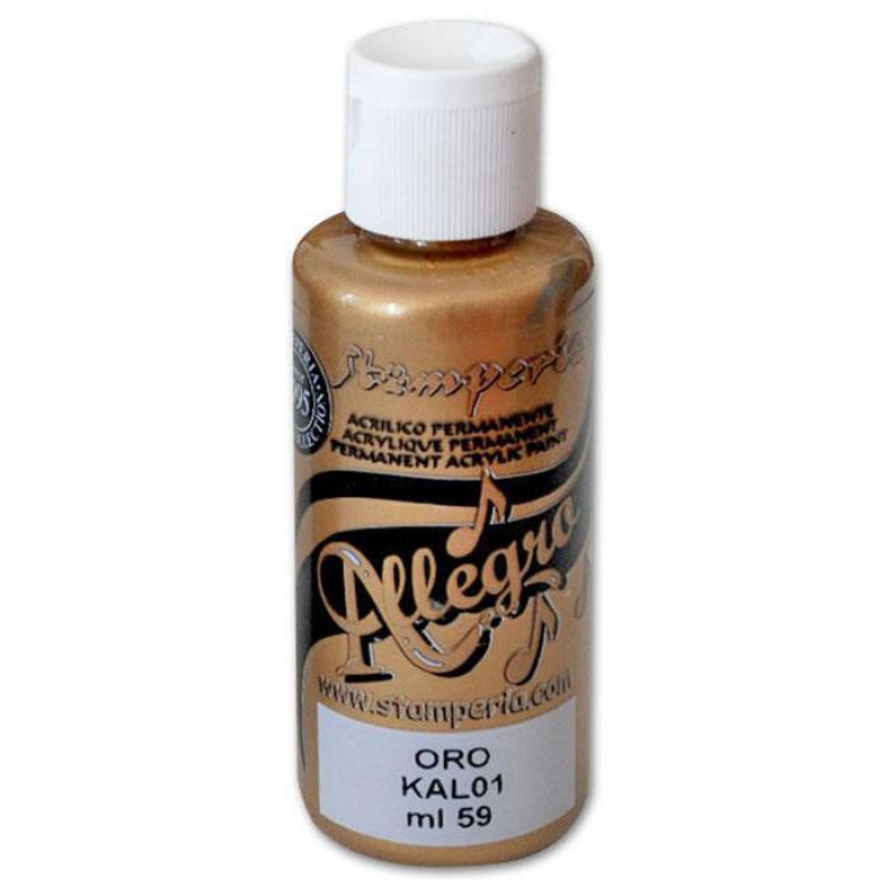 Stamperia Allegro paint - 59 ml gold
