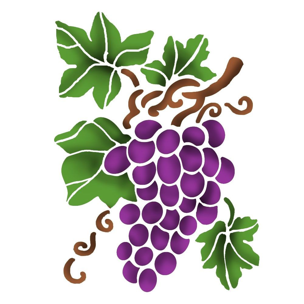 Stamperia Stencil D  cm. 20x15 Grape