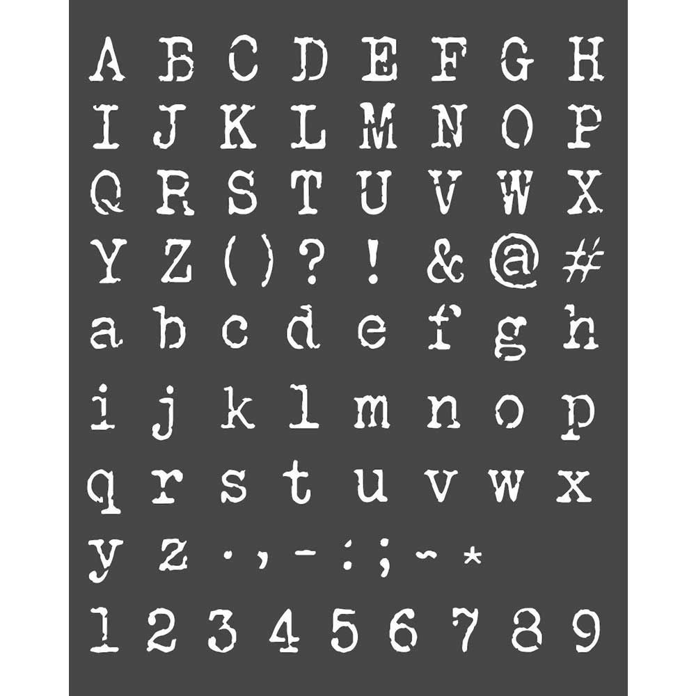 Stamperia Thick Stencil cm 20x25 Alphabet and numbers