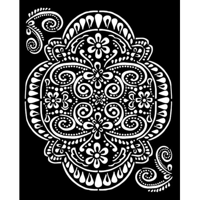 Stamperia Thick Stencil 20x25 cm - Atelier lace