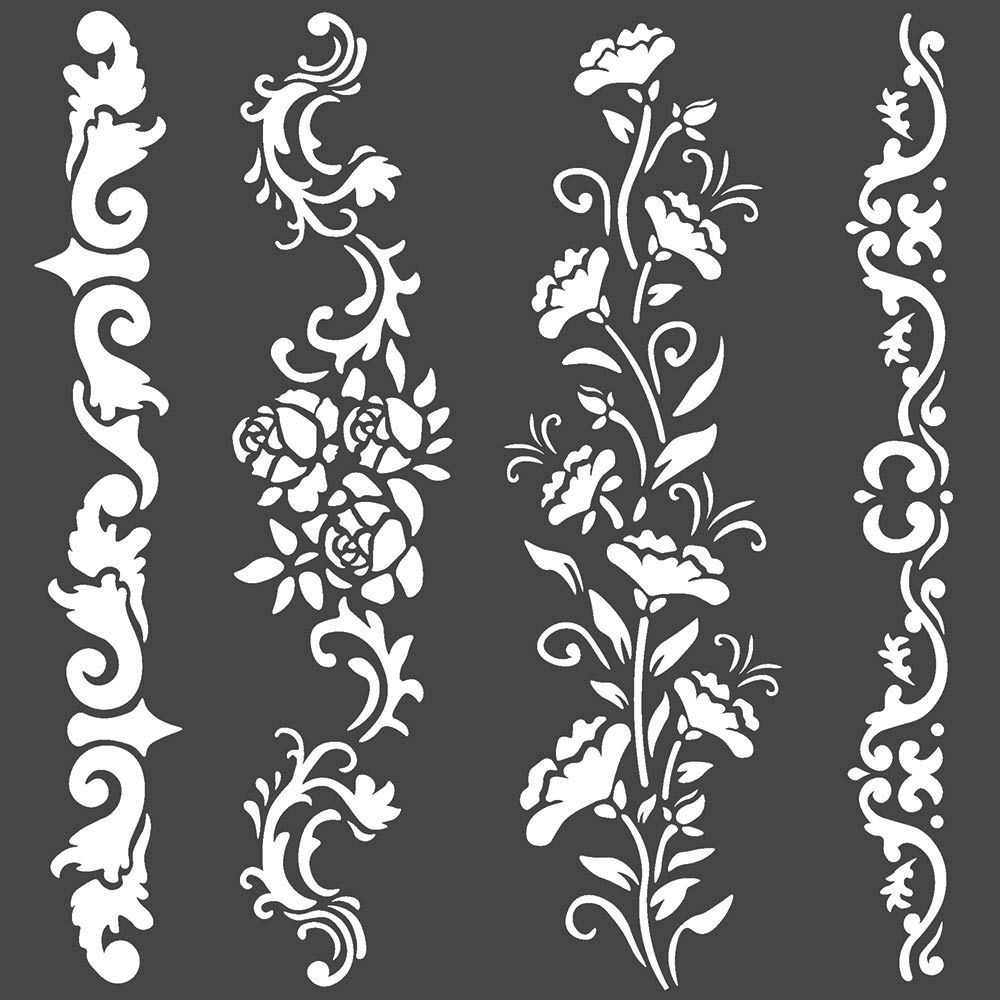Stamperia Thick stencil cm. 18X18 Borders
