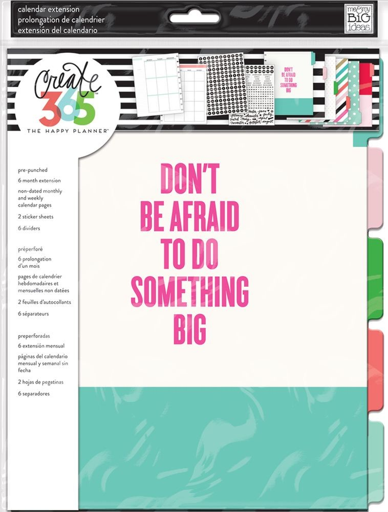 Me & My Big Ideas Create 365 The Happy Planner Monthly Something Big 6 Month Planner Extension (Big