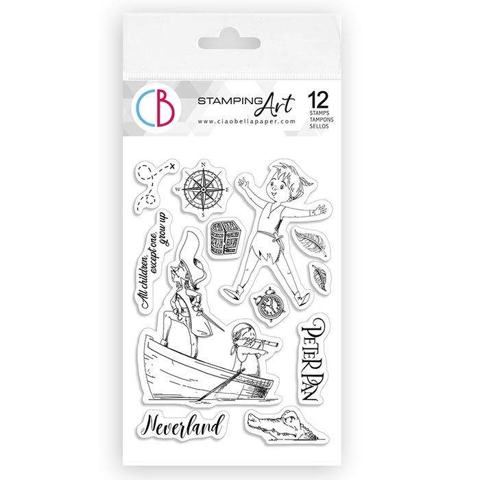 "Ciao Bella Clear Stamp Set 4""x6"" Peter Pan"