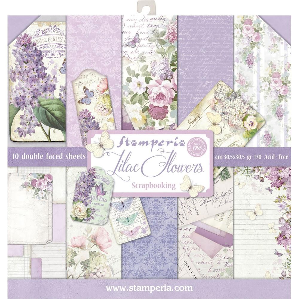 Stamperia 12x12 Paper Pad - Lilac (10 Double Sided Sheets)