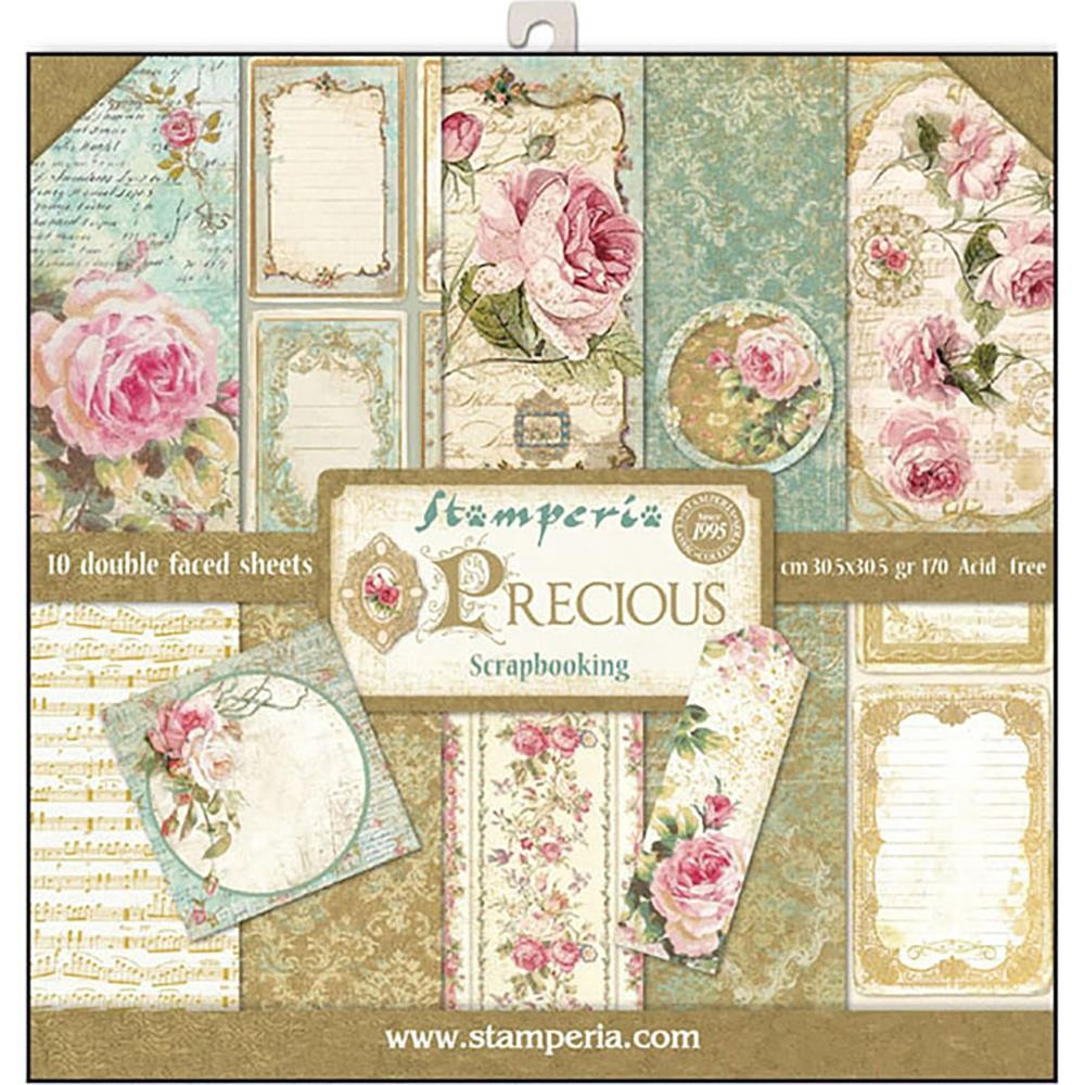 Stamperia 12x12 Paper Pad - Precious (10 Double Sided Sheets)