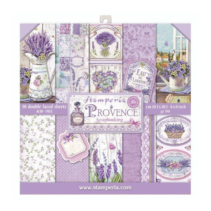 "Stamperia Block 10 Papers 20.3X20.3 (8""X8"") Double Face Provence"