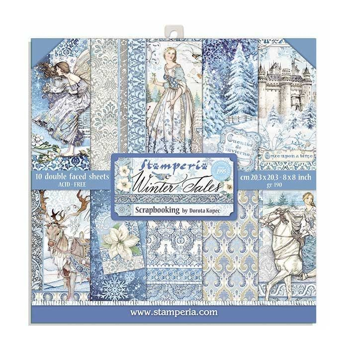 Stamperia 8x8 Paper Pad - Winter Tales (10 Double Sided Sheets)
