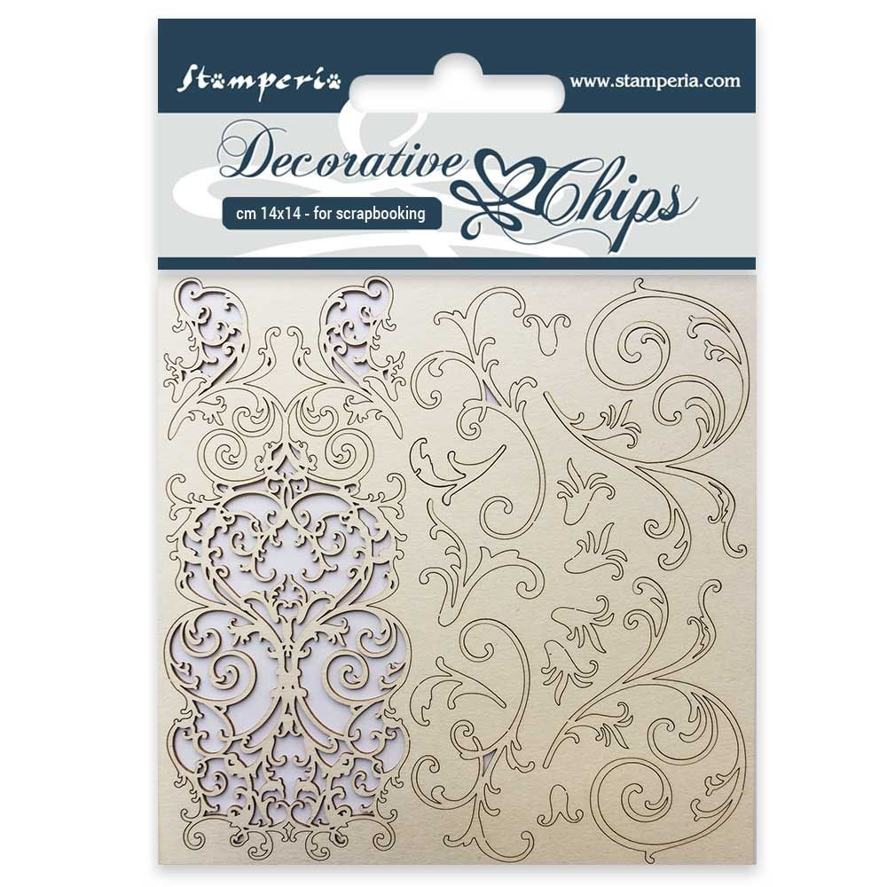 Stamperia Decorative chips cm. 14x14 Tapestry