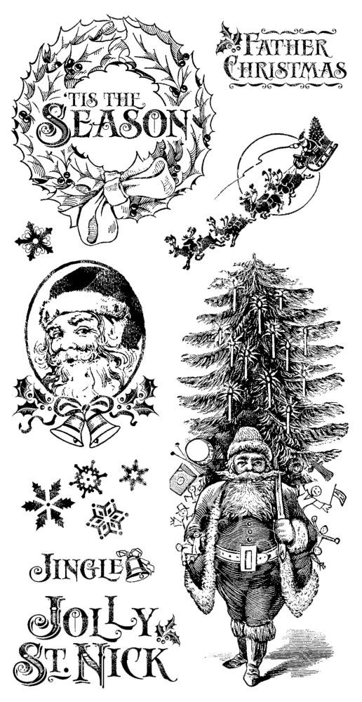 Graphic 45 Cling Stamp Set St. Nicholas 1