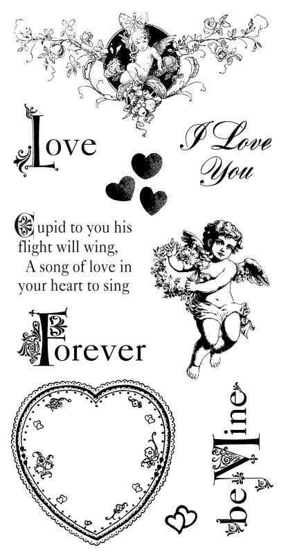 Graphic 45 Cling Stamp Sweet Sentiments 2
