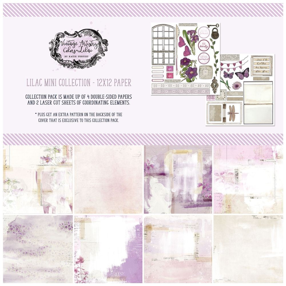 49 and Market Vintage Artistry Lilac 12x12 Collection Pack