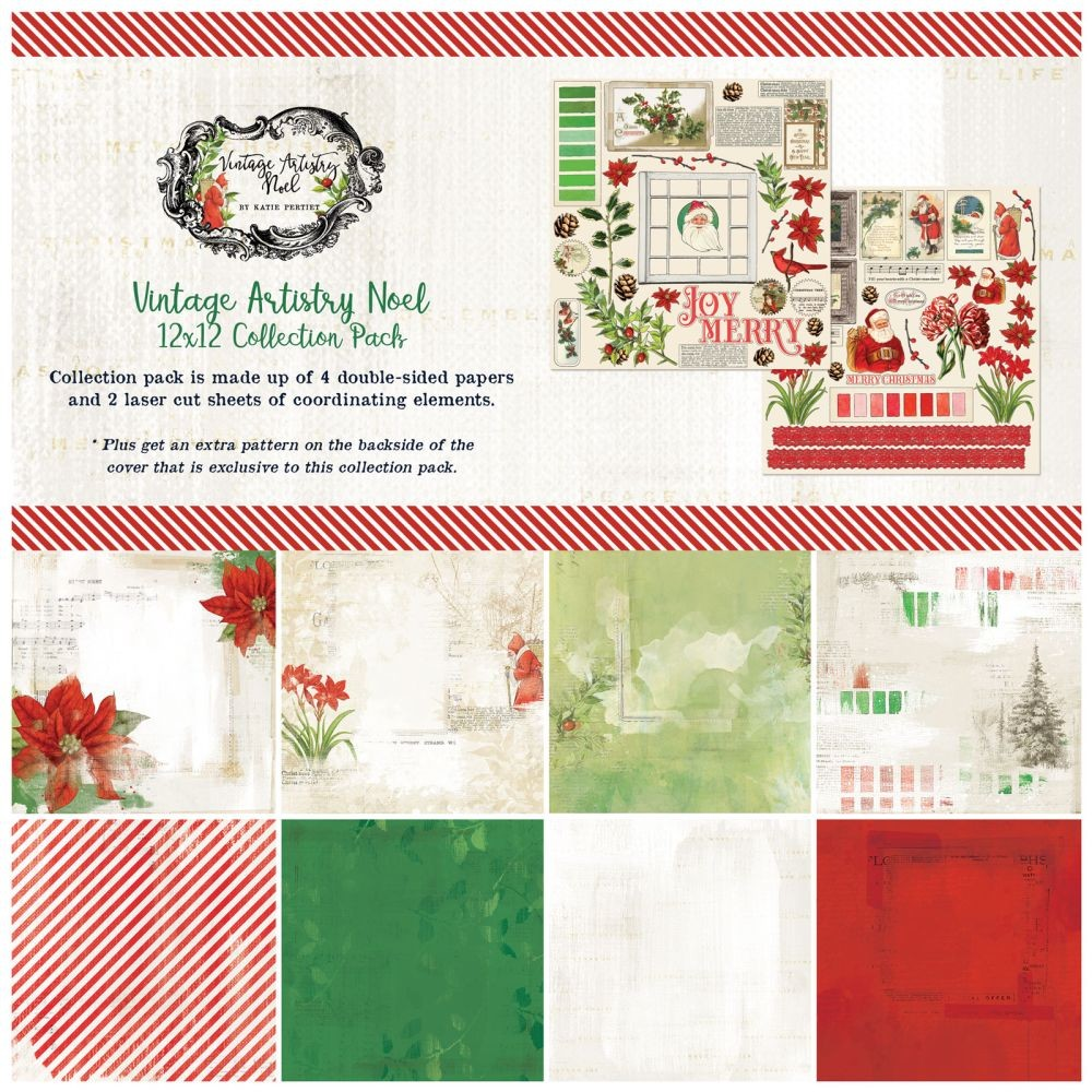 49 and Market Vintage Artistry Noel 12x12 Collection Pack