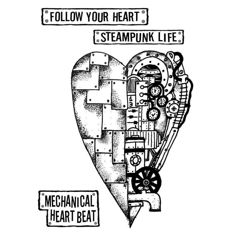 Stamperia Stamp cm 15x20 - Mechanical heart
