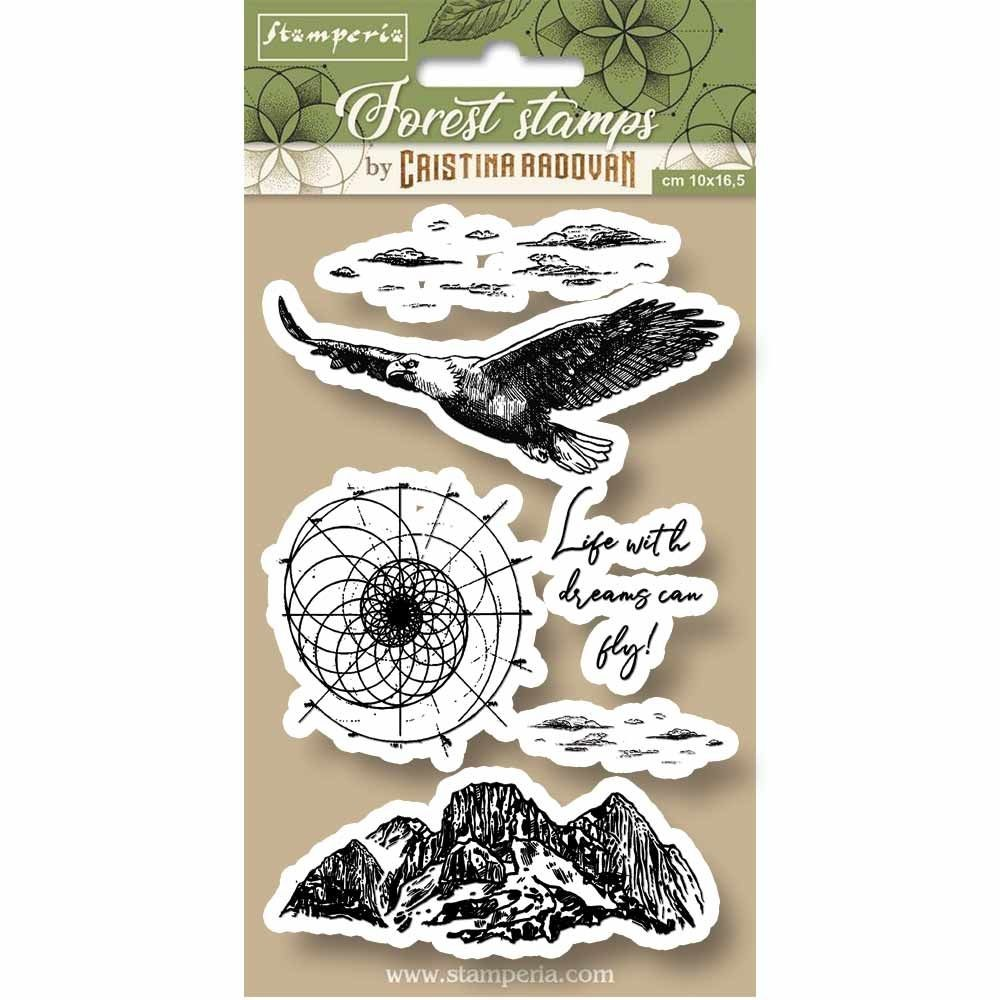 Stamperia HD Natural Rubber Stamp cm.10x16,5 Eagle