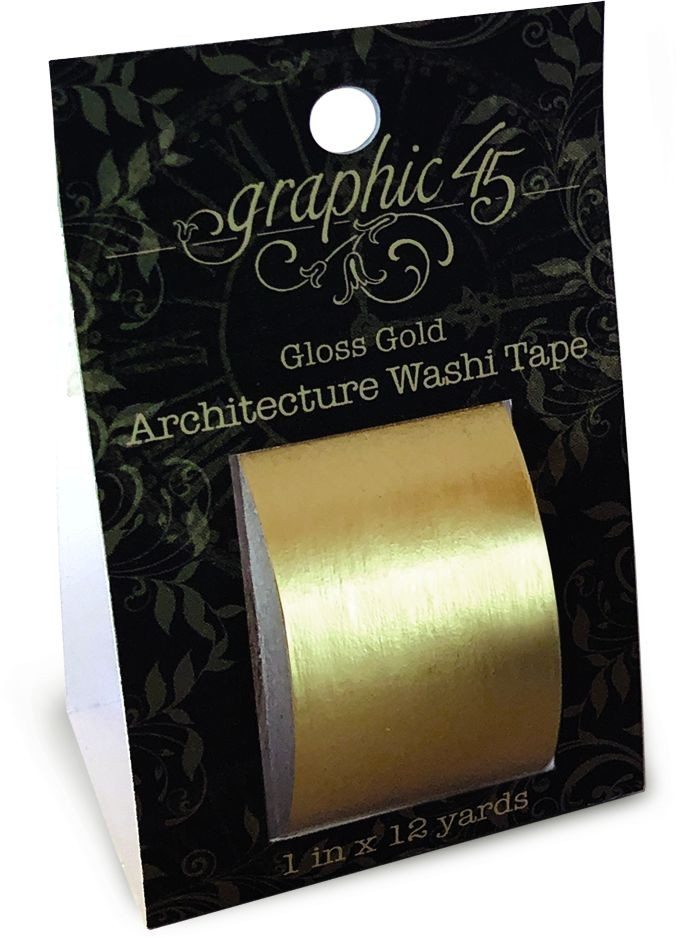 Graphic 45 Architecture Washi Tape - Gloss Gold
